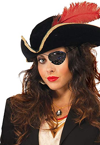 Forum Novelties Women's Sequin Eye Patch-Black,