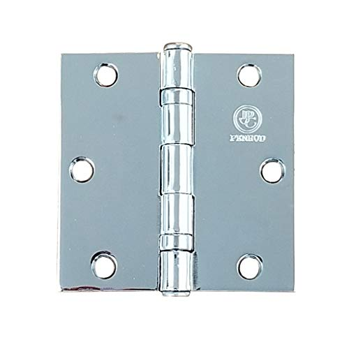 Polished Chrome Door Hinges - 3.5