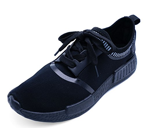 Ladies Black Slip-On Running Trainers Gym Sports Pumps plimsolls Casual Shoes Sizes 3-8 YagtX