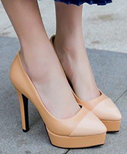 Bout Pointu Sexy Femme Abricot Plateforme Aisun Escarpins wz7ZPggq