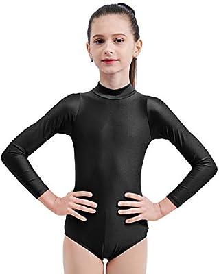 Black Mvefward Kids Girls Turtleneck Long Sleeve Leotard Gymnastics Size Small
