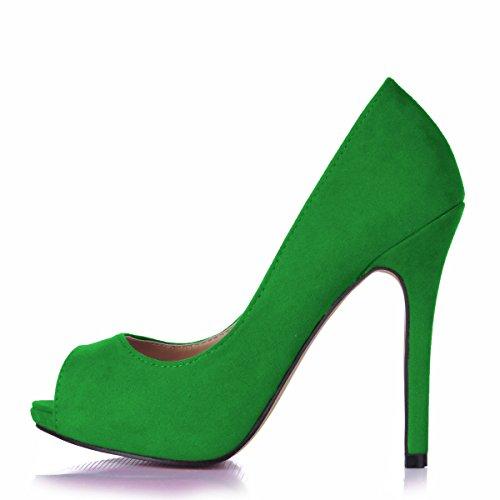 haut de sur femmes rouge les satin poisson pointe Cliquez grand talon Green noir chaussures un boîtes sol sur tombent et tempérament rouge à UvqdwREdO