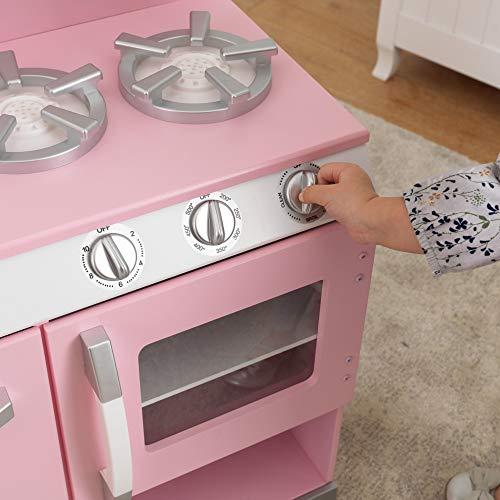 Kidkraft Retro Kitchen And Refrigerator In Pink Pricepulse