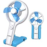 Daffodil UFN01 USB Fan with Switch and Speed Adjustable - Can be Powered by USB (USB Cable Included) or 3 X AAA Batteries (Not Included)