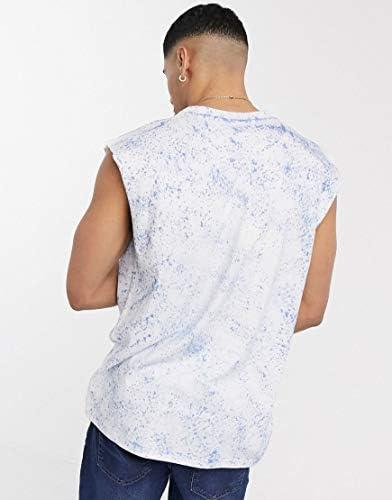 アナザーインフルエンス タンクトップ ノースリーブ アームホール メンズ Another Influence sleeveless t-shirt vest in tie [並行輸入品]