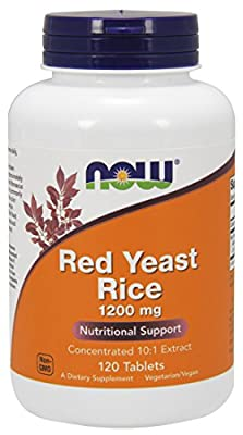 NOW Foods Red Yeast Rice Extract 1200mg, 120 Tablets