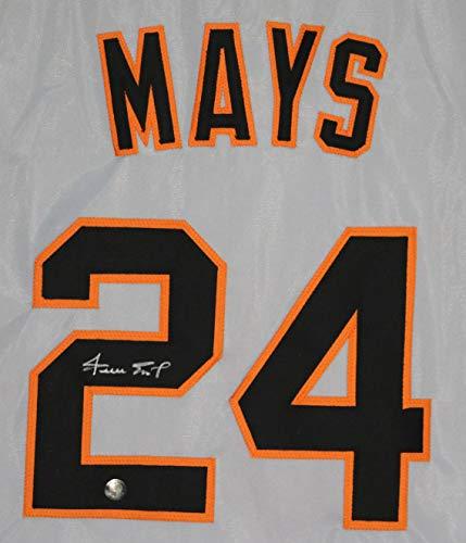 - Willie Mays San Francisco Giants Signed Autographed Gray #24 Custom Say Hey Hologram COA