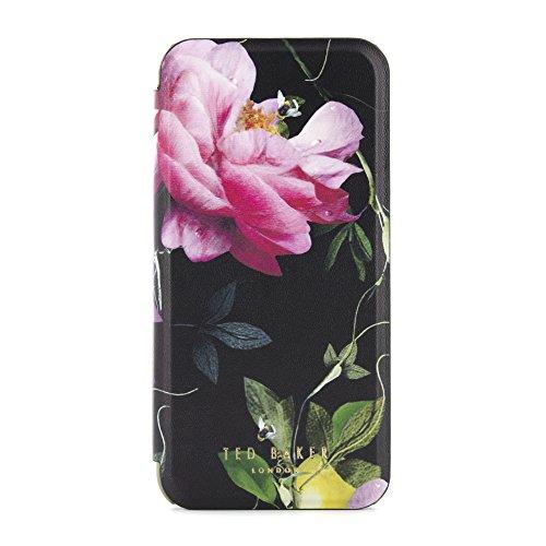 Ted Baker AW16venece Spiegel Folio Fall für iPhone 7–Citrus Bloom Schwarz