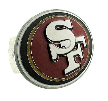 Siskiyou NFL San Francisco 49ers Large Logo Hitch Cover, Class II & III