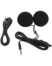 WINOMO 3,5 mm jackplug stereo motorhelm luidspreker hoofdtelefoon met volumeregeling voor mobiele telefoon MP3 GPS (zwart)