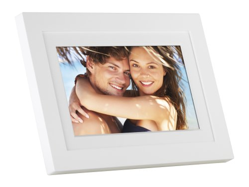 GiiNii SH-701W 7-Inch Analog Picture Frame (White) (Giinii Digital Photo Frame compare prices)