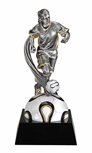 [Female Soccer Motion X Resin Trophy Award (Futbol)] (Resin Football Trophies)