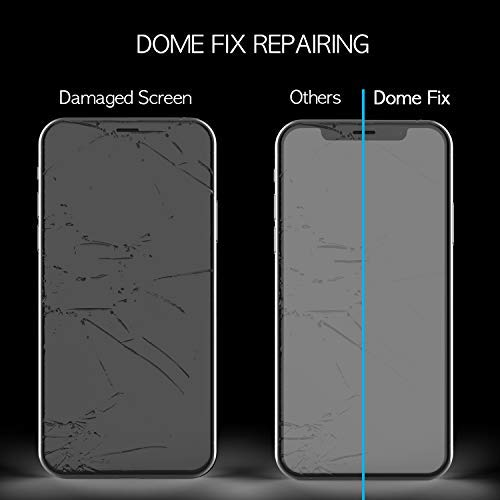 iPhone Xs Max Screen Protector, Full Cover Tempered Glass Shield [Dome Fix] New Slide Easy Install and Repair Kit by Whitestone for Apple iPhone 10s Max (2018) - 1 Pack