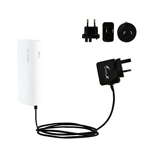 International AC Home Wall Charger suitable for the TP-Link MR10U - 10W Charge supports wall outlets and voltages worldwide - Uses Gomadic Brand TipExchange by Gomadic