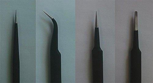 Master Tools 09957 - Modellbauzubehör Tweezers, Pinzetten Set, grau