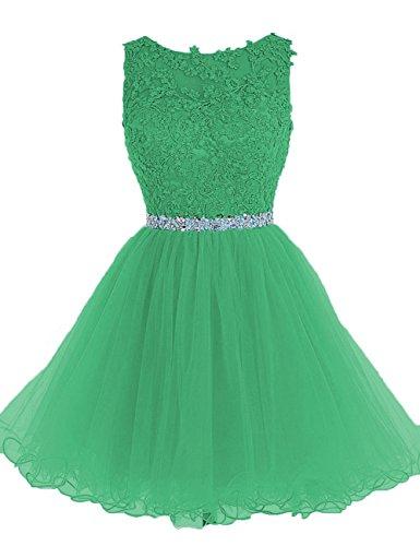 Vestiti Da A Tulle Di Partito Abiti Brevi Fine Sera Anno Verde Da Cdress Perline Ballo Di Casa Del Ritorno Applique Cxtn4wpq