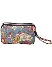 3 Zipper Women Purse Wristlet Bag Waterproof Cell Phone Pouch Wallet Comfortable and Environmentally Practical design and Durable