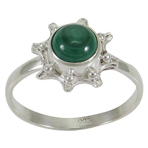Banithani 925 mode en argent cadeau de bijoux bague de pierres précieuses malachite pour les femmes