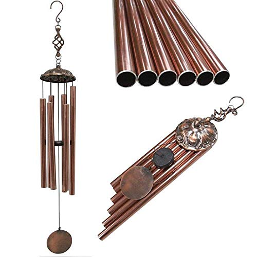(Every Growing Personalized 45'' Bronze Wind Chimes Large Tuned WindChimes Outdoor Bells Copper Bronze Unique Verdigris Garden Outdoor Decor Yard Decorations Patio)