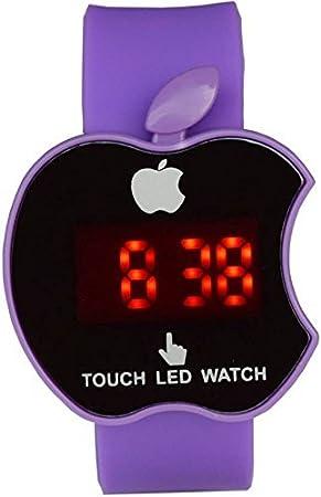 Amazon.com: Swissrock Apple Shape Kids Purple LED Wrist Watch Digital: Health & Personal Care