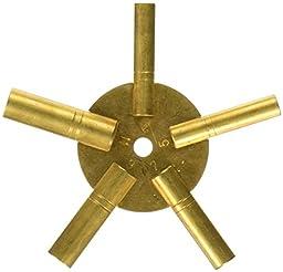 SE JT6335 5-in-1 Odd Number Brass Clock Winding Key