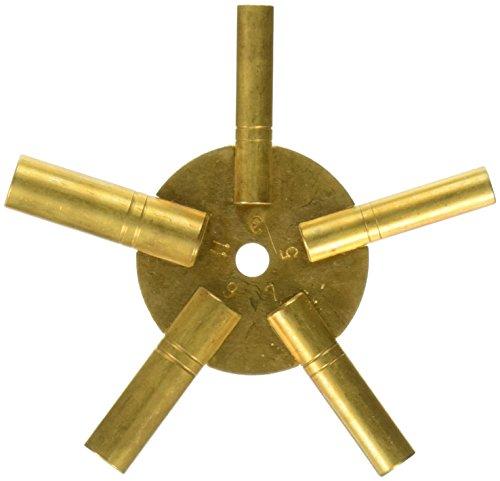 brass clock numbers - 5