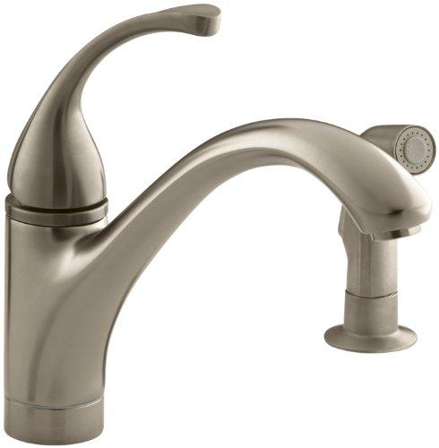 Bv Forte Single Control - KOHLER K-10416-BV Forte Single Control Kitchen Sink Faucet with Sidespray and Lever Handle, Vibrant Brushed Bronze