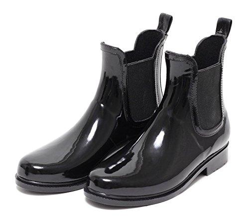 Jelly Schwarz Boots 37 41 Gummistiefelette Damen Regenstiefel Gummistiefel EUROPE ZAPATO Stiefelette Halbstiefel Chelsea Boot Stiefel Regenstiefelette Wellingtons wxqvAT6CF