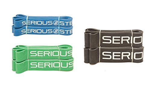 *Pair* Heavy Band Pack – Pairs of #3, #4, #5 (25 – 150 lbs.) PowerLifting / Pull-Up Power Stretch Band Set