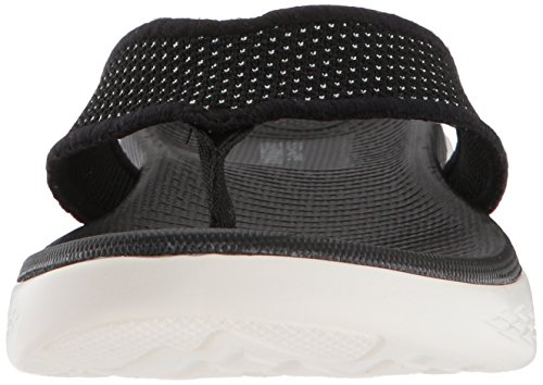 Ouvert on 600 Skechers Sandales The White Bout Noir Femme Black Go PAC6CqwO