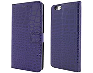 """BONAMART ® PU Leather Wallet Case Pouch for Apple iPhone 6 Plus 5.5"""" with Card Slot Stand Cover Crocodile Pattern"""