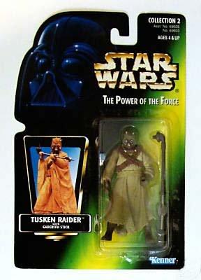 Star Wars Potf Picture Card Tusken Raider With Gaderffii
