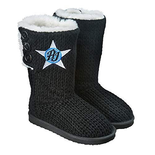 WWE AJ Styles Women's Button Boots Black Large