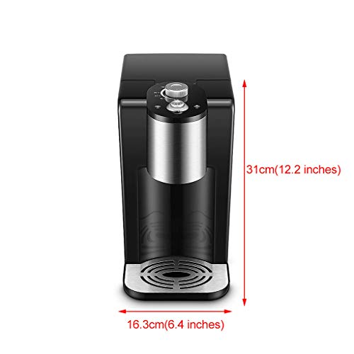Hot Water Dispensers Mini Home Desktop Small hot Water Dispenser Office Desktop Mini hot Water Dispenser Small Insulated Kettle Bedroom Small Coffee Machine (Color : Black, Size : 16.3cm28cm31cm) by Combination Water Boilers Warmers (Image #6)
