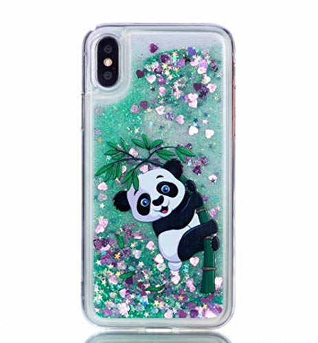Losin Liquid Compatible with Apple iPhone Xs Max Case Fashion Sparkling Liquid Quicksand Glitter Sequin Lovely Unicorn and Panda Printed Pattern Soft TPU Case