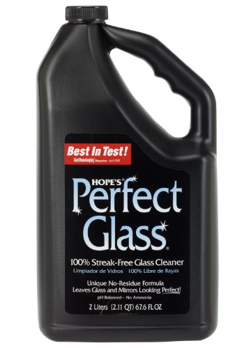 HOPE'S Perfect Glass Cleaner Refill, 67.6-Ounce, Streak-Free Glass Cleaner Refill, Less Wiping, No Residue