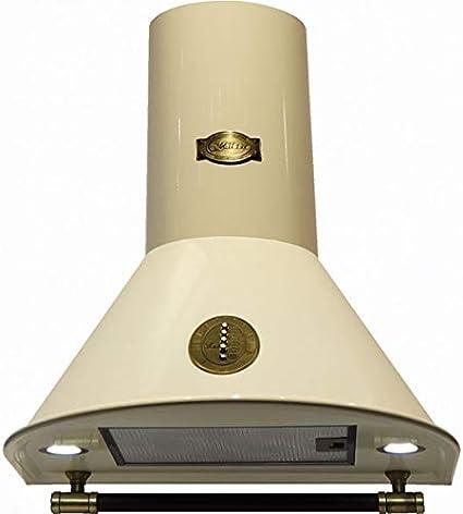 Kaiser Belle Epoque 9423 ElfBe - Campana extractora de pared (3 niveles, 910 m3/h, 90 cm, mango revestido de piel, incluye set de recirculación): Amazon.es: Grandes electrodomésticos