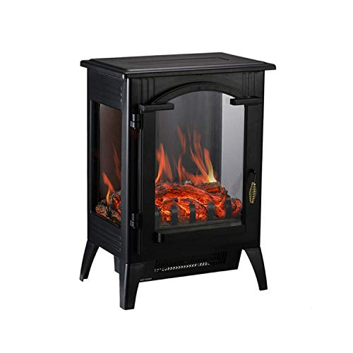 HYD-Parts 1500W Free Standing Retro Electric Space Heater,Fireplace with Quartz Infrared for Home Office 003