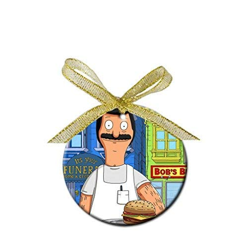 QMSING Bob - Bobs Burgers Custom Porcelain Christmas Ornament (Round) - ToRocer Round Ornament ()
