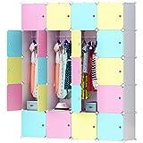 Cubic Closet, MultiColor - H 183 cm x W 147 cm x D 47 cm