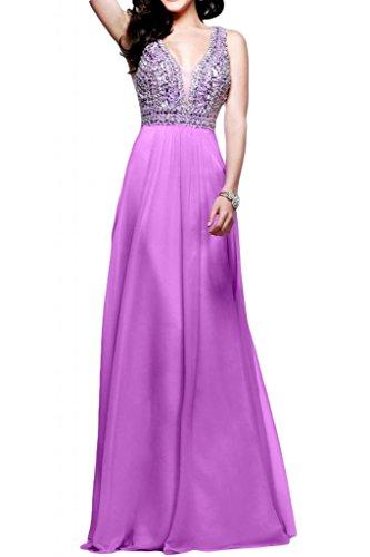 Tuscany novia exquisit ZWE Traeger gasa vestidos de fiesta largo Party Fiesta Prom Vestido de dama morado