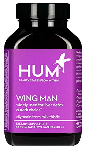 HUM Wing Man - Liver Detox Supplement - Silymarin Milk Thistle, Dandelion Artichoke Leaf Support Healthy Liver Cleanse Body of Toxins 60 Vegan Capsules