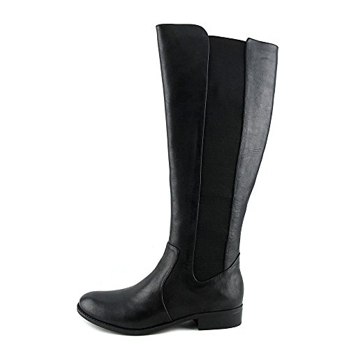 Jessica Simpson Ricel 2 Women Round Toe Knee High Boot(Wide) Black DS,6.5 - Leather Stretch Heels