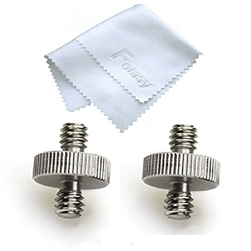 Fotasy 1/4 Male to 1/4 Male Threaded Screw Adapters (2 Pieces)