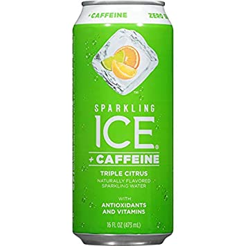 Sparkling Ice Caffeine Naturally Flavored Sparkling Water With Zero Sugar Zero Calories 16 Ounce