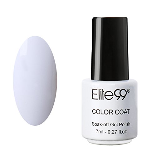 Elite99 Soak Off UV LED Gel Nail Polish Manicure Lacquer Nail Art Decoration 7ml 1323 French White (White Polish)