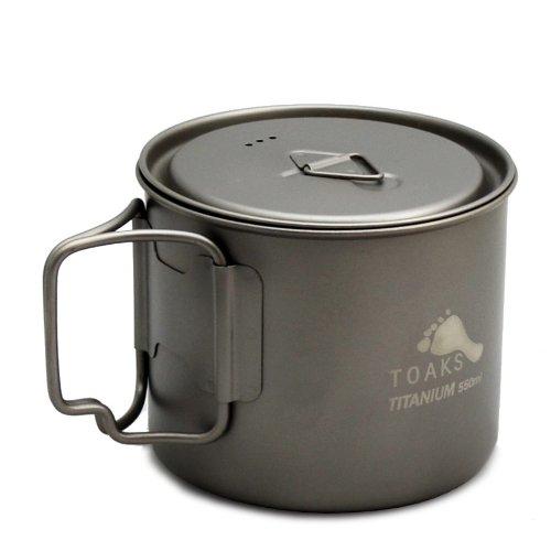 (TOAKS Light Titanium 550ml Pot (Ultralight Version))