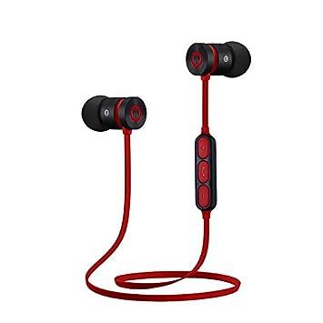 LIUYULIN Ejecutando Tapones Auriculares Magnéticos De Metal Auricular Bluetooth Inalámbrico Deportes Ejecuta Tapones para Los Oídos El Cuello Colgando De ...