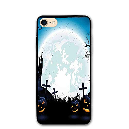 Haixia IPhone 7/8 Shell 4.7 Inch Halloween Decorations Spooky Concept Scary Icons Old Celtic Harvest Figures In Dark Image Full -