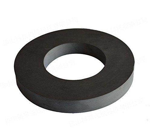 Ferrite Ring Magnet, 4In Dia, Ceramic for Science Experiment
